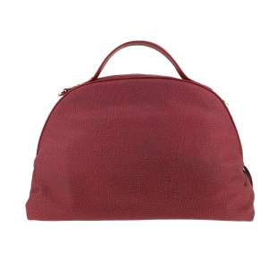 Borbonese Sexy Bag Medium in Jet OP Burgundy 934421296T09