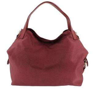 Borbonese Hobo Medium in Jet OP Burgundy 934451296T09