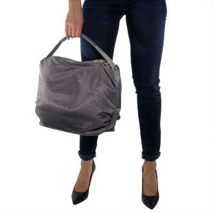 Borbonese Hobo Medium in Jet OP Grigio 934460296Q80 2