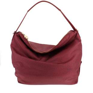 Borbonese Hobo Medium in Jet OP Burgundy 934460296T09