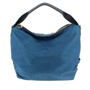 Borbonese Hobo Medium in Jet OP Blu/Nero 934460296T30