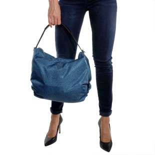 Borbonese Hobo Medium in Jet OP Blu/Nero 934460296T30 2