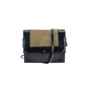 Borbonese Small Shoulder Bag OP Naturale/Nero 924217662 X11