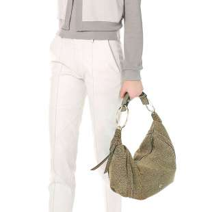 Borbonese Orbit Hobo Bag medium in Camoscio Op Naturale 963853684 X06 2
