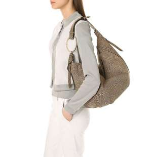 Borbonese Orbit Hobo Bag large in Camoscio Op Naturale 963854684 X06 2