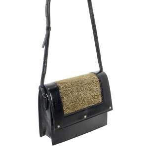 Borbonese Small Shoulder Bag OP Naturale/Nero 924217662 X11 2