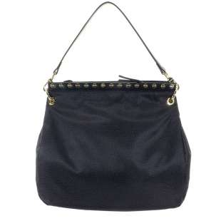 Borbonese Metro Medium Hobo di Nylon OP Nero 923893X99 100