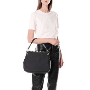 Borbonese Metro Medium Hobo di Nylon OP Nero 923893X99 100 2