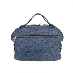 Borbonese Sexy Bag Medium di Nylon OP Blu/Nero 934098X99 880